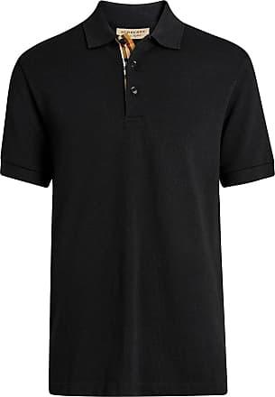Burberry contrast collar polo shirt - Black