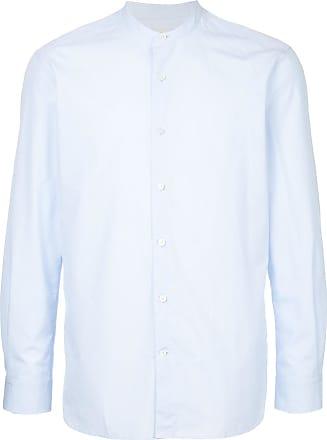 Kent & Curwen collarless shirt - Blue