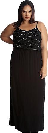 Nouvelle Collection Floral Sequin Lace Maxi Dress Black 20