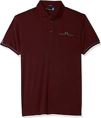 J.Lindeberg Mens Peter Tx Jersey Polo Shirt, Dark Mahogany, Small