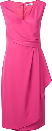 Blumarine Vestido com drapeado lateral - Rosa