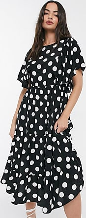 Y.A.S Janessa polka tiered dress-Black