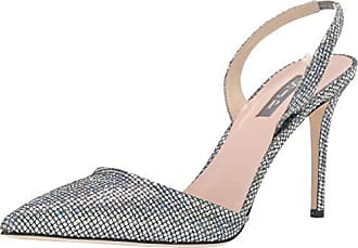 cd060dcd006 SJP by Sarah Jessica Parker Womens Bliss 90 Pointed Toe Sling-Back Pump  Scintillate 35.5
