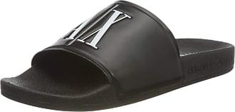 A X Armani Exchange Womens Ax Icon Pool Slides Flip Flops, Black (Black+White Logo 00002), 5 UK