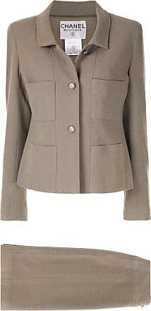 Chanel CC setup suit jacket skirt - Neutrals