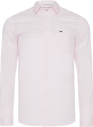 Tommy Jeans CAMISA MASCULINA SOLID POPLIN - ROSA