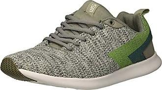 66d22b20ed7 Steve Madden Mens Barrett Sneaker White Green 9.5 M US