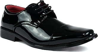 Lora Dora Strong Souls Mens Patent Lace Up Loafers Patent