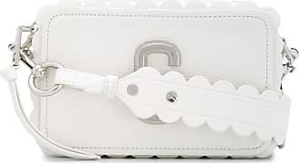 Marc Jacobs Bolsa transversal estruturada com acabamento ondulado - Branco