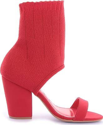Di Valentini Sock Sandal Gio 541-05251 Nobuck Vermelho Vermelho - 39