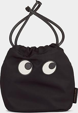 Anya Hindmarch Eyes Drawstring Pouch Nylon in Black