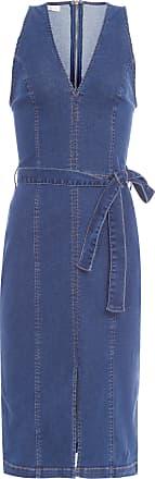 Colcci Vestido Midi Jeans - Azul