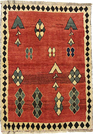Nain Trading 152x109 Persian Gabbeh Rug Beige/Dark Brown (Hand-Knotted, Iran/Persia, Wool)