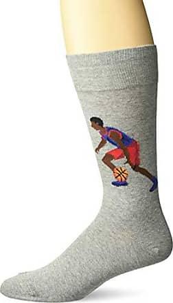 Hot Sox Mens Sports Series Novelty Casual Crew Socks, Basketball (Sweatshirt Grey), Shoe Size: 6-12