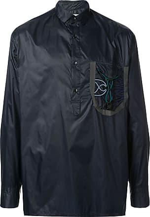 Kolor button collar shirt jacket - Blue