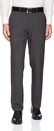 Kenneth Cole Reaction Mens Techni-Cole Mini Check Modern Fit Flat Front Dress Pant, Charcoal, 38Wx32L