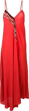 Giacobino Vestido longo com aplicações - Vermelho