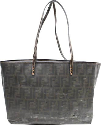 d99a64bc5d58 Fendi Ff Zucca Monogram Spalmati Roll Shopper 869748 Brown Coated Canvas  Tote