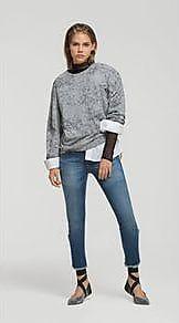 Lebôh Calça Straight Cos Intermediario Barra Desfiada Jeans 44