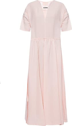 Jil Sander Ruffle Dress Womens Pink