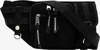 Indispensable Mens Black Armour Suede Cross Body Bag