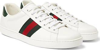 1ae37667f5e Gucci Ace Crocodile-trimmed Leather Sneakers - White