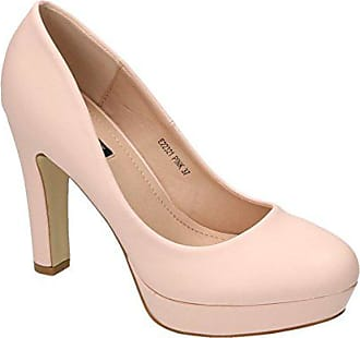 205fa4838c10e1 King Of Shoes Klassische Damen Lack Pumps Stilettos High Heels Plateau  Abend Schuhe Bequem 22 (