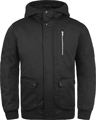 Solid Wallace Mens Winter Jacket Outdoor Jacket with Hood, Size:XL, Colour:Black (9000)