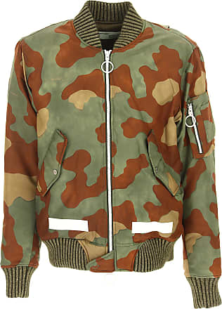 Off-white Down Jacket for Men, Puffer Ski Jacket On Sale, camouflage, polyamide, 2017, S