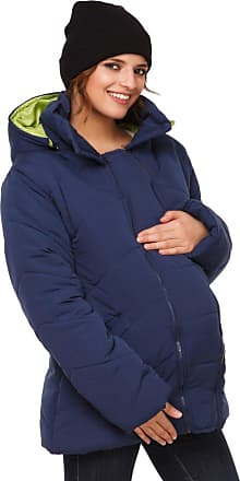 Happy Mama Happy Mama. Womens Maternity Padded Jacket Hood Carrier Removable Insert. 075p (Navy, UK 10, M)