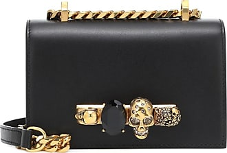 Alexander McQueen Jeweled Mini leather crossbody bag