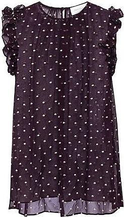 3def8c25979ed7 Zimmermann Zimmermann Woman Floral-print Crinkled Silk-georgette Top Dark  Purple Size 2