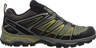 Salomon Salomon Mens X Ultra 3 GTX Low Rise Hiking Shoes, Grey (Castor Grey / Beluga / Green Sulphur 000), 10.5 UK (45 1/3 EU)