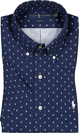 Polo Ralph Lauren Oberhemd mit Muster, kurzarm von Polo Ralph Lauren in Marine für Herren