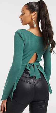 4th & Reckless tie back top co ord in teal-Green