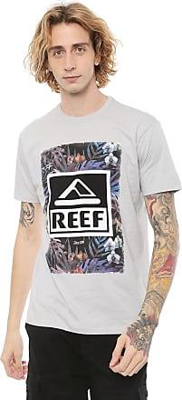 Reef Camiseta Reef Tropical New Cinza