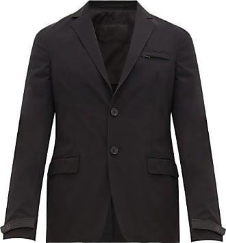 Prada Logo-cuff Technical-gabardine Blazer - Mens - Black