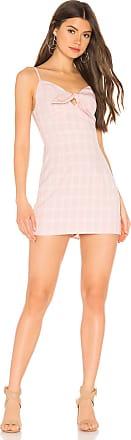 Superdown Montana Tie Front Dress in Pink