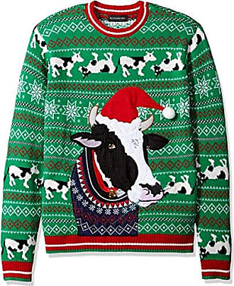 Blizzard Bay Mens Cow Ugly Christmas Sweater, X-Large