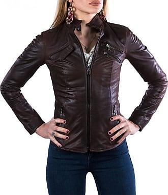Leather Trend Italy Michelina - Giacca Donna in Vera Pelle colore Testa di Moro Oil