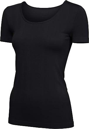 Schiesser Womens Sport Shirt 1/2 Thermal Top, Black (Black 000), 14