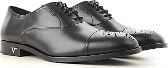 Versace Lace Up Shoes for Men Oxfords, Derbies and Brogues On Sale, Black, Leather, 2017, 10 10.25 8 9.5