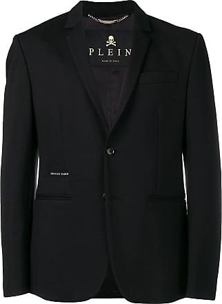 Philipp Plein Blazer com logo - Preto