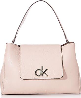 Calvin Klein RE-LOCK TOP HANDLE SATCHEL Womens Cross-Body Bag, Pink (Nude), 14.5x24x34 centimeters (B x H x T)
