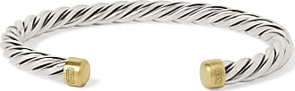 David Yurman Cable Sterling Silver And 18-karat Gold Cuff - Silver