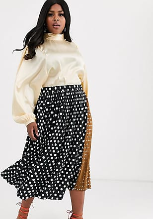 Unique21 Hero Unique21 Hero contrast polka dot pleated skirt-Multi