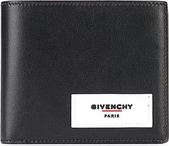 Givenchy logo appliqué bi-fold wallet - Preto