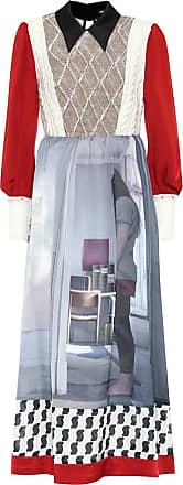 Undercover Printed silk-blend dress