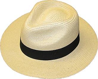 Hawkins STRAW CRUSHABLE FOLDABLE SUMMER PANAMA FEDORA TRILBY HAT WITH BAND (57)