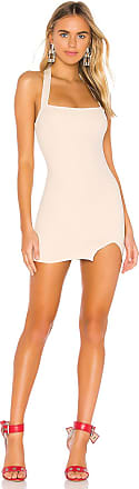 Superdown Reece Halter Slit Dress in Beige